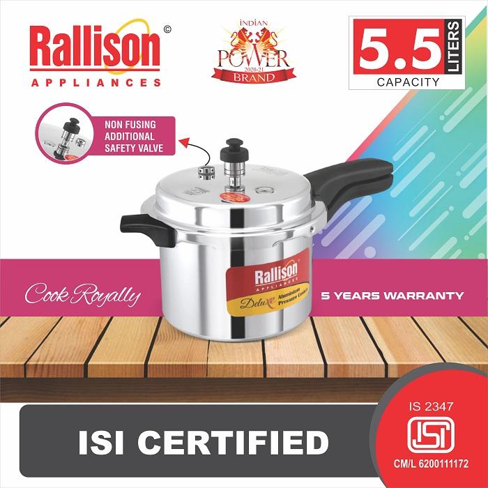 Rallison pressure cooker Deluxe 5.5 ltr